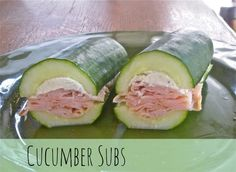cucumber sub  http://makethebestofeverything.com/2014/05/12-non-bread-lunch-ideas.html