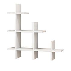 Ραφιέρα τοίχου 3 Gen Wall σε λευκό χρώμα Επιτοίχια εντυπωσιακή σύνθεση οριζόντιων και κάθετων ραφιών με μοντέρνο design.Ένα ευέλικτο και εύχρηστο έπιπλο για την προβολή και αποθήκευση των αγαπημένων σας βιβλίων και διακοσμητικών στο σπίτι και το γραφείο.Ραφιέρα 3 Gen Wall και βάλτε μία πινελιά ανανέωσης στο χώρο σας. Τεχνικά χαρακτηριστικά: * Κατασκευή από ενισχυμένη μελαμίνη πάχους 18mm υψηλής ποιότητας, με αντοχή στην καταπόνηση και στον χρόνο. Προσφέρεται σε λευκό χρώμα.* Περιλαμβάνει… Floating Corner Shelves, Corner Wall Shelves, Cube Shelves, Display Shelves, Shelving, Shelf, Industrial Wall Shelves, Cool Walls, Engineered Wood