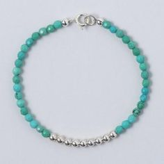 Blue-Green Turquoise & Sterling Silver Bracelet #turquoise #handmade #armparty #armcandy #jewelry #fallstyle www.jewelya.com