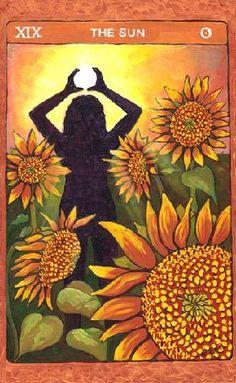 XIX. The Sun: Tarot de St. Croix by Lisa De St. Croix