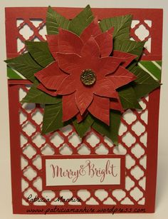 CTMH Artfully Sent Red Poinsettia Christmas card