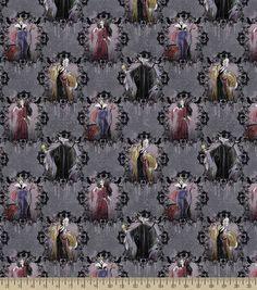 Disney Villains Portrait Cotton Fabric