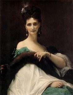 Alexandre Cabanel, La Comtesse de Keller. Oil on canvas. 76 x 99 cm, 1873.