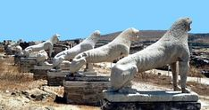 Mykonos and ancient site of DELOS island - visit it whilst in Mykonos in Mikonos, Mykonos - All Seasons Attraction Famous Greek Sculpture, Famous Sculptures, Mykonos Island, Cradle Of Civilization, Ancient Ruins, Ancient Greek, Ancient Beauty, Minoan, Archaeological Site