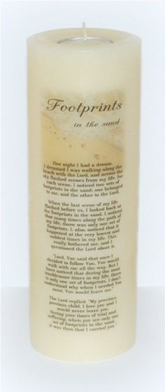 Footprints candle footprints inspirational by DesignsbyDMCandles