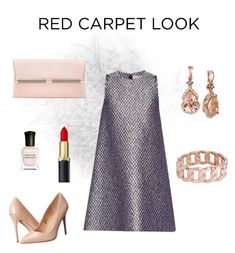 """Red Carpet Look"" by carlamc on Polyvore featuring Balenciaga, Madden Girl, Diane Von Furstenberg, Worthington, Deborah Lippmann and LE VIAN"