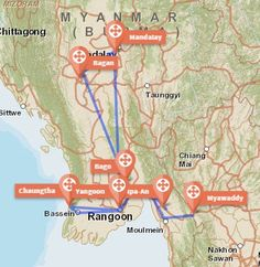 Travel Myanmar in a low budget: A real Travel Guide - Gamin Traveler #Myanmar #Route #Map #travel #Asia