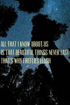 Fireflies by Ron Pope. Still my favorite song we did in showchoir
