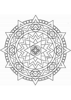 Coloriage d un superbe mandala rectangulaire avec des - Colorier un mandala ...