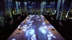 teamlab creates interactive restaurant interior in tokyo