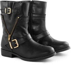 Borger Calçados ankle boots de couro fivela