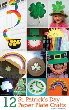 St. Patrick's Day Paper Plate Crafts