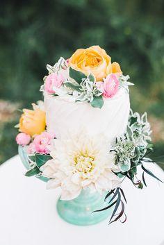 romantic wedding cake - photo by Sterling Imageworks http://ruffledblog.com/rainy-wedding-day-turned-day-after-session #weddingcake #cakes