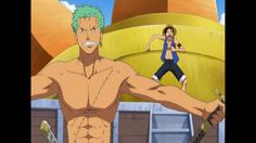 shirtless Zoro