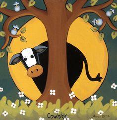 Cowhide ~ Annie Lane Folk Art