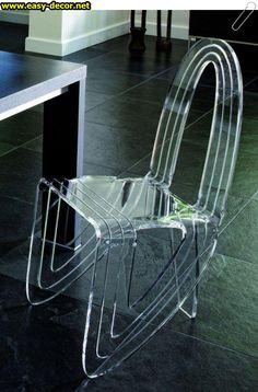 Beautiful Transparent Chars Designed By Aïtali Acrylic Furniture, Custom Furniture, Cool Furniture, Furniture Design, Interior Decorating, Interior Design, Glass Slipper, Deco Design, Take A Seat