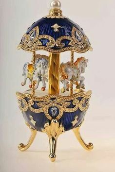 - Faberge Egg with Horse Carousel