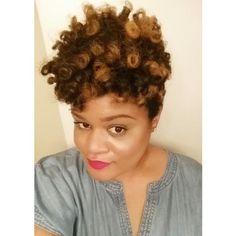Flexi Rod Set on Natural Hair  #curls #naturalhair #rodset