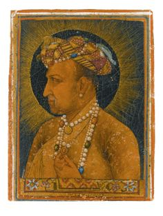 A bust-length portrait of the Emperor Jahangir, signed by Daulat, Mughal, dated 1627 Sufi Saints, Sword Dance, Indian Language, Emperor, Rugs On Carpet, Modern Art, Muhammad, Portrait, Abstract