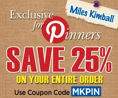 Save 25% on ANY order using offer code MKPIN! www.mileskimball.com #coupon