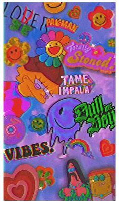 Retro Wallpaper Iphone, Hippie Wallpaper, Trippy Wallpaper, Iphone Wallpaper Tumblr Aesthetic, Iphone Background Wallpaper, Aesthetic Pastel Wallpaper, Kids Wallpaper, Aesthetic Wallpapers, Bad Girl Wallpaper