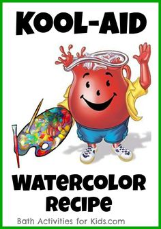 Make your own Kool-aid watercolors for art and sensory exploration!