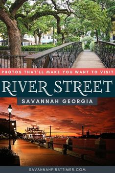 Get inspired to visit River Street in Savannah, GA! See the riverfront from a local's point of view and get insider tips for capturing the best photos of the area.   savannahfirsttimer.com Savannah Georgia Travel, Savannah Chat, Visit Savannah, Georgia Usa, Usa Travel Guide, Travel Usa, Travel Tips, Us Travel Destinations, Places To Travel