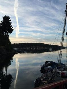 View of Miner's Bay from Springwater Lodge, Mayne Island, British Columbia, Canada