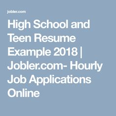 online job applications for teens