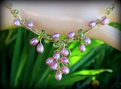 Pink Pearl Bud Necklace by TangoCatGems on Etsy, $95.00