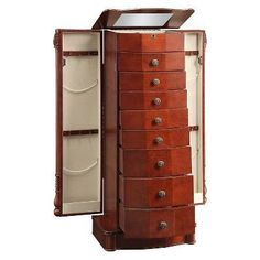 Rayford Jewelry Armoire - Powell Company, Red