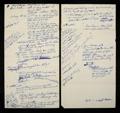 MARILYN MONROE NOTES WRITTEN ON BACK OF 1952 MENUS - Current price: $2000