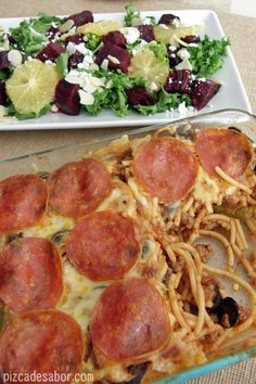 Pasta estilo pizza de pepperoni – Pizca de Sabor