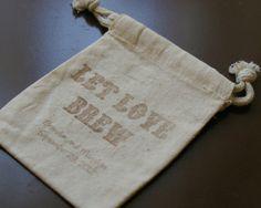 Coffee Wedding Favor Bags Set of 100. Cotton by AnnaLouAvenue