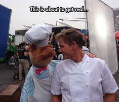 Gordon Ramsay Vs Swedish Chef. I have such a crush on Gordon Ramsey!