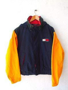 picked up my grail! as seen on chris brown in the music video im the man is this super rare 90s color block tommy hilfiger jacket