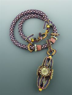 Lantern Lighter Necklace Pattern by artist Laura McCabe.