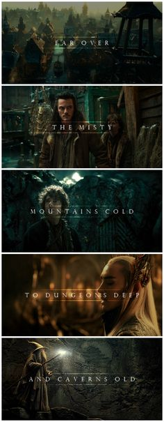 Misty Mountains- Hobbit 2.