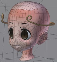 Blender 3d, Face Topology, 3d Character, Projects To Try, Design