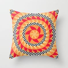 Abstract Kaleidoscope Pattern Throw Pillow by Dpat Designs - $20.00