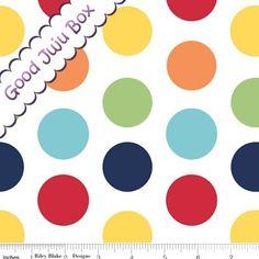 """Cotton Dots"" Riley Blake Punkte bunt large von Good Juju Box auf DaWanda.com"