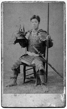 Samurai wearing armor,