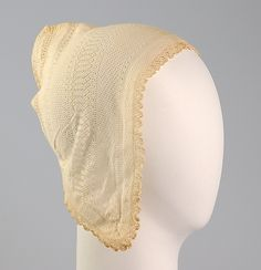 Nightcap Date: ca. 1850 Culture: American Medium: Cotton Credit Line: Brooklyn Museum Costume Collection at The Metropolitan Museum of Art, ...