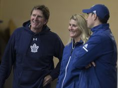 Hayley Wickenheiser makes history in Leaf hockey office Hayley Wickenheiser, Maple Leafs Hockey, Stanley Cup Champions, Toronto Maple Leafs, World Of Sports, Sports Teams, Ice Hockey, Scores, Nhl