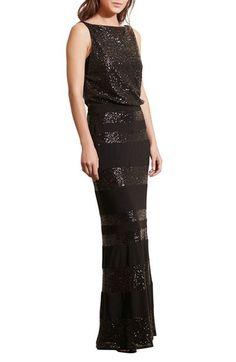 Lauren Ralph Lauren Sequin Mesh Blouson Gown (Regular & Petite) available at #Nordstrom