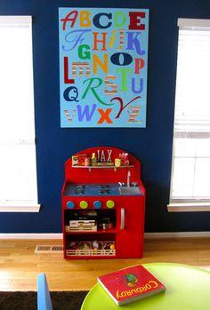 DIY Alphabet Canvas