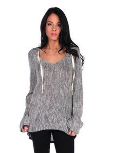 Knit Tunic Sweater Hoodie