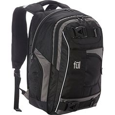 ful Travel Laptop Backpack BlackGrey *** Read more  at the image link. (Note:Amazon affiliate link)
