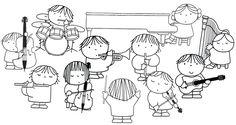 kleurplaat orkest dick bruna Music School, Music Class, Music Education, Book Cover Page, Traditional Tales, Music Wall Art, Preschool Colors, Music Illustration, Miffy