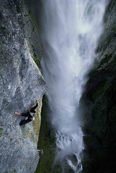 climbing in Meiringen,Switzerland
